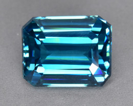 8.09 Cts Beautiful Perfect Ring Size Natural Cambodian Blue Zircon