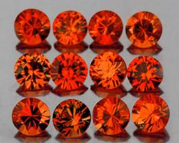 2.50 mm Round 12 pcs Orange Sapphire [VVS]