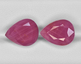Pair of Rubies, 22.79ct - Mined in Guinea | Certified by IGI