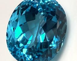 38.10ct Jewellery Grade Swiss Blue Topaz VVS