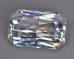 24.05 Cts Gorgeous Sparkling Lustrous Natural White Zircon