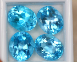 24.24ct Swiss Blue Topaz Oval Cut Lot D43