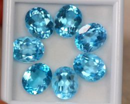 30.54ct Swiss Blue Topaz Oval Cut Lot D46