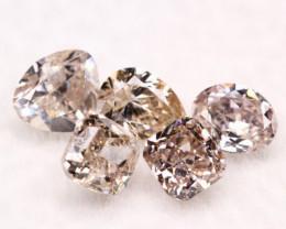 0.57Ct Fancy Brownish Pink Natural Diamond C0706