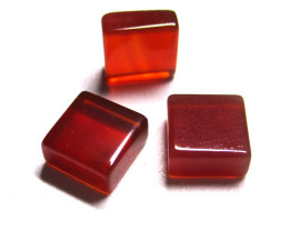 4.23cts Carnelian Matching Square Discs