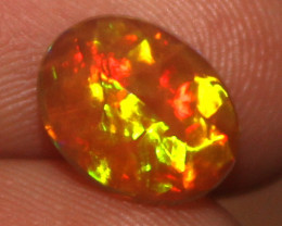 0.90 Crt Natural Ethiopian Welo Fire Faceted Opal 19