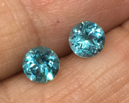 ⭐️SALE ! 1.14 Carat VVS Apatite Pair Neon Paraiba Color Matched Quality !