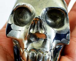 Genuine 2285.00 Cts Golden Pyrite Skull