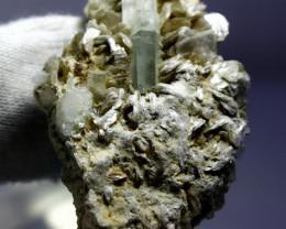 84.30 CT Natural & Unheated Blue Aquamarine Crystal Specimen