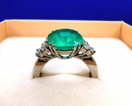 3,92ct Colombian Emerald 18k Solid Gold Ring Colombian Emeralds Colombian E