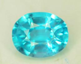 Great Luster 1.15 ct Rarest Neon Blue Color Apatite