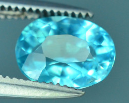 Great Luster 1.30 ct Rarest Neon Blue Color Apatite