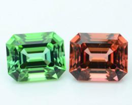 AAA Grade 9.46 ct Amazing Color Tourmaline Pair