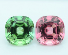 AAA Grade 8.21 ct Amazing Color Tourmaline Pair Afghanistan