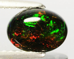 0.60 Cts Smoked Ethiopian Multi-Color Play Opal Cabochon