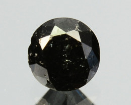 0.19 Cts Natural Coal Black Diamond Round Cut Africa