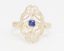 14 kt Gold  Ring  0.32 ct Sapphire GPC Lab