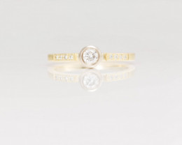 14 kt Solid Gold  Ring  0.41 ct Diamond - New Jewelry