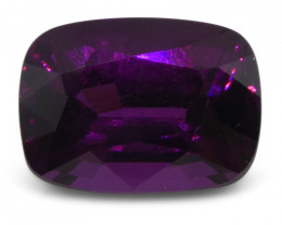 3.78ct Rhodolite Garnet Cushion IGI Certified - $1 No Reserve Auction