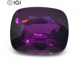 3.15 ct Rhodolite Garnet Cushion IGI Certified