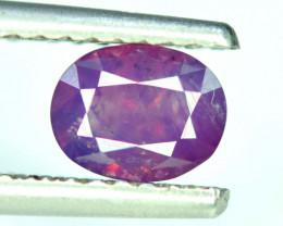 Rare 1.60 Ct Natural Corundum Purplish Pink Sapphire From Kashmir