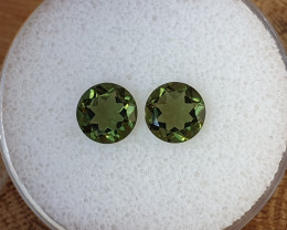 1,90ct Moldavite pair - Natural faceted Tektite!