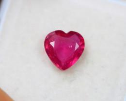 1.93ct Ruby Heart Cut Lot V4500