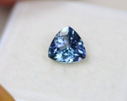 1.22ct Greenish Violet Blue Tanzanite Trillion Cut Lot V4501