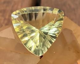 ⭐7.75ct Lemon Yellow Fluorite Concave Cut No Reserve auction