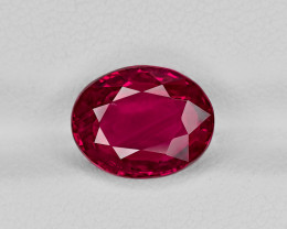Ruby, 5.01ct - Mined in Mozambique | Certified by GRS