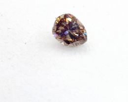 0.18ct  Fancy Deep purplish Pink Diamond , 100% Natural Untreated