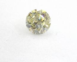 0.735ct  Fancy Light greenish Yellow  Diamond , 100% Natural Untreated