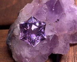 8.66ct A UNIQUE CUT AMETHYST - Collector's Joy VVS TOP GRADE LUSTER