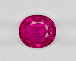 Ruby, 3.78ct - Mined in Burma | Certified by GRS