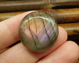 Round labradorite purple light cabochon (G0617)