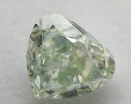 GIA Certificate Heart Shape 0.99 Carat Natural Fancy Light Green Loose Diam