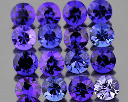 1.80 mm Round Machine Cut 35 pcs Unheated Violet-Blue Sapphire [VVS]