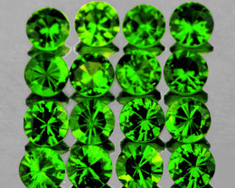 1.50 mm Round 60 pcs Chrome Green Diopside [VVS]