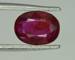 GIL Certified 1.56 Ct Natural Ruby Vivid Red *Pigeon Blood* Color Ruby From