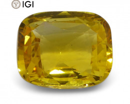 2.52 ct Yellow Sapphire Cushion IGI Certified Sri Lankan
