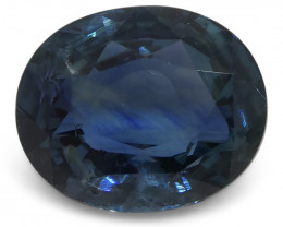 4.07 ct Blue Sapphire Oval IGI Certified Unheated
