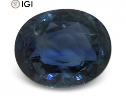 4.07 ct Blue Sapphire Oval IGI Certified Unheated