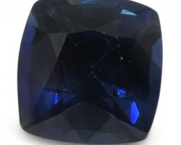 1.66 ct Blue Sapphire Cushion IGI Certified Ethiopian