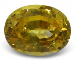 2.39 ct Yellow Sapphire Oval IGI Certified Sri Lankan