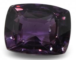 2.44 ct Purple Sapphire Cushion IGI Certified Sri Lankan, Unheated