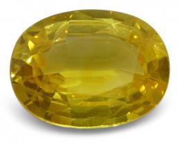 2.79 ct Yellow Sapphire Oval IGI Certified Sri Lankan