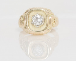 14 kt Solid Gold Ring 0.50 ct Diamond