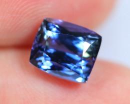 3.36cts CERTIFICATE Violet Blue D Block Tanzanite / 19