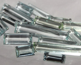 85 Crt Natural Faceted Aquamarine Loose Gemstone Lot