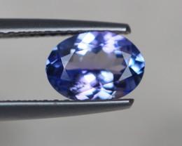 1.24Ct Violet Blue Tanzanite Oval Cut Lot LZ2773